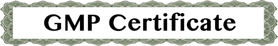 GMP Certificate header image